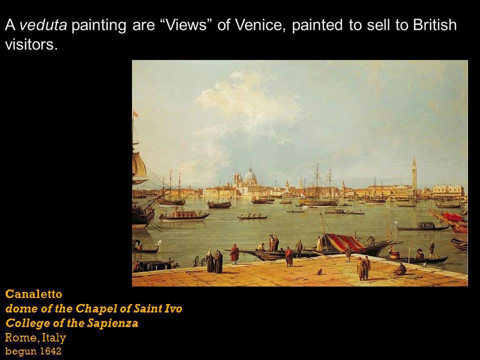 A veduta painting are Views of Venice, painted to sell to British visitors.