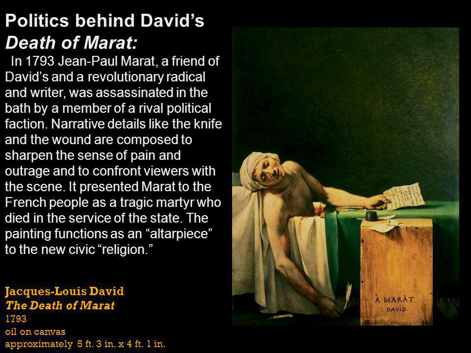 Politics behind David's Death of Marat: