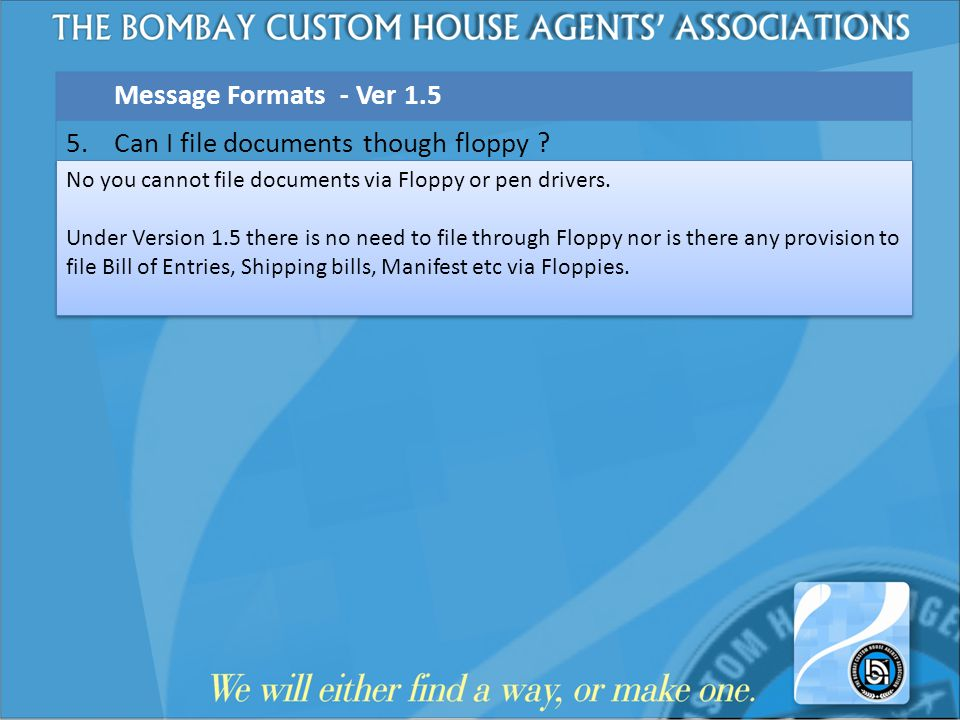 Can I file documents though floppy