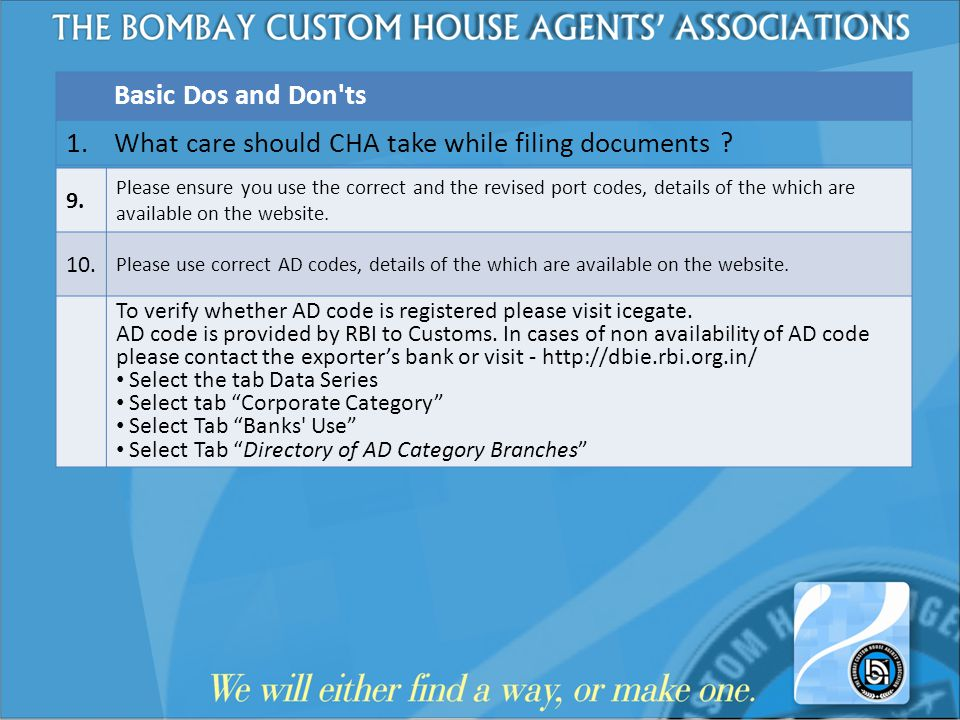What care should CHA take while filing documents