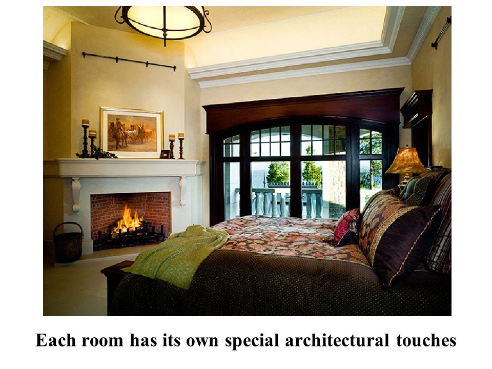 Each room has its own special architectural touches
