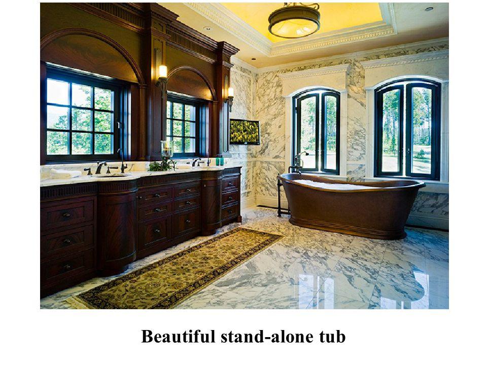 Beautiful stand-alone tub
