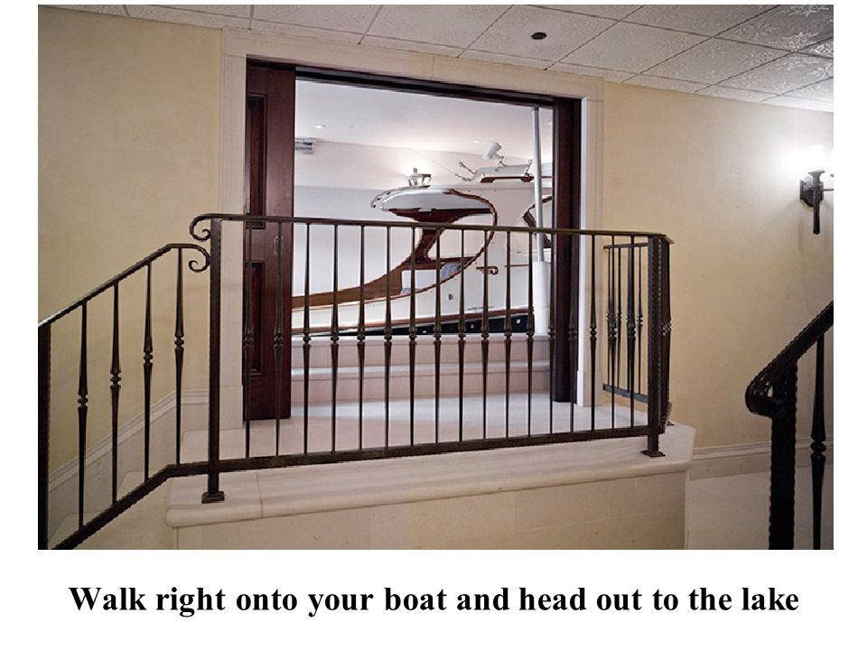 Walk right onto your boat and head out to the lake