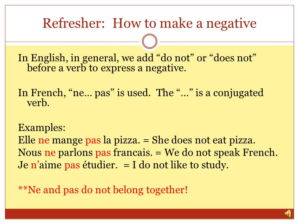 Refresher: How to make a negative