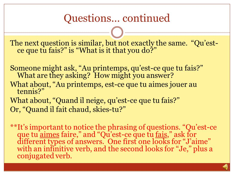 Questions… continued