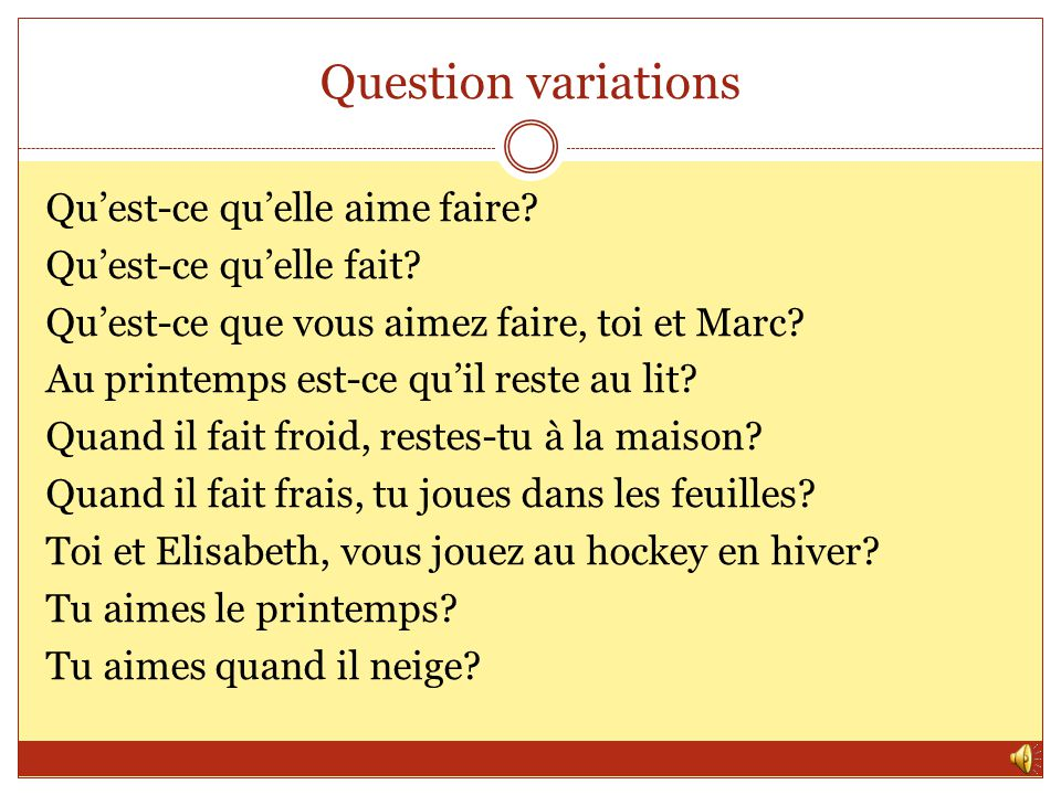 Question variations