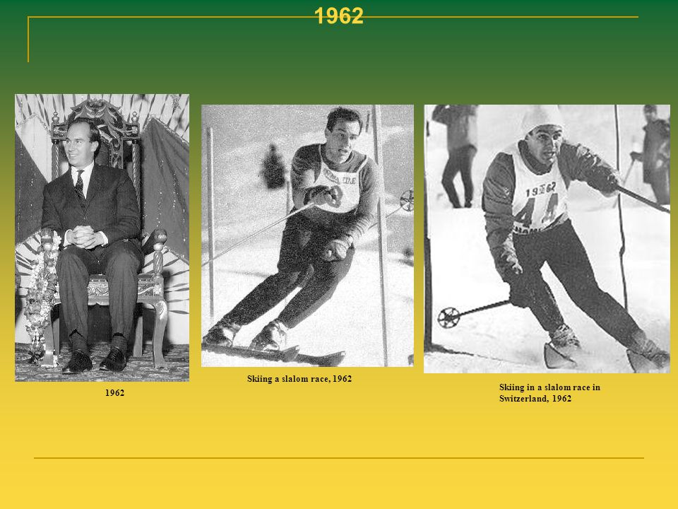 1962 Skiing a slalom race, 1962 Skiing in a slalom race in Switzerland, 1962 1962