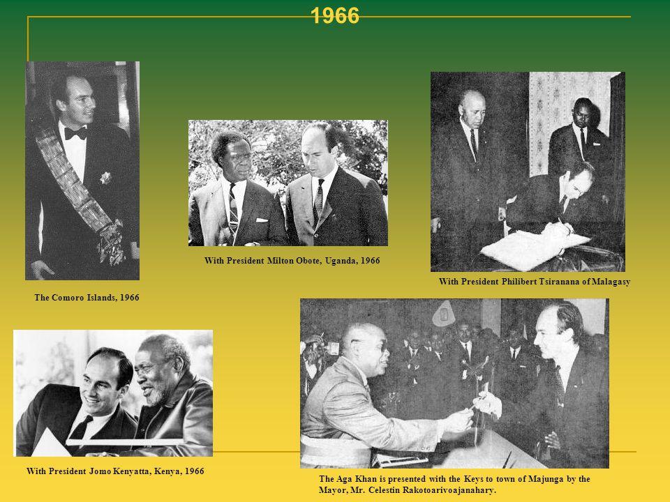 1966 With President Milton Obote, Uganda, 1966