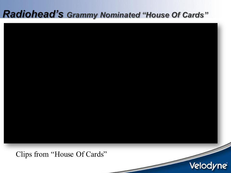 Radiohead's Grammy Nominated House Of Cards