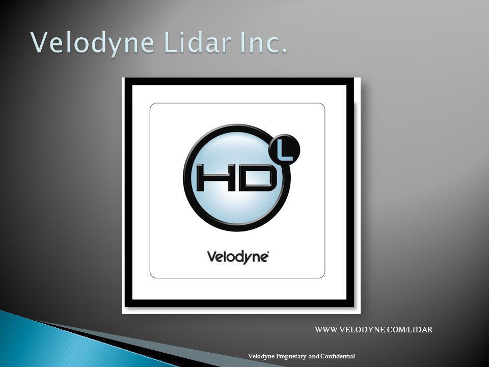 Velodyne Lidar Inc. WWW.VELODYNE.COM/LIDAR