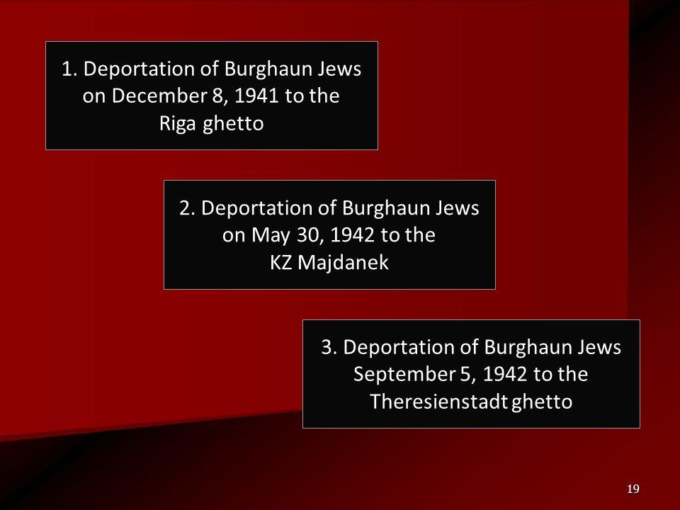 1. Deportation of Burghaun Jews on December 8, 1941 to the Riga ghetto