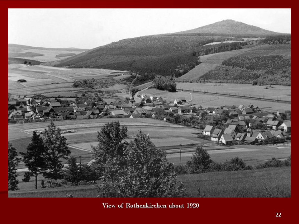 View of Rothenkirchen about 1920
