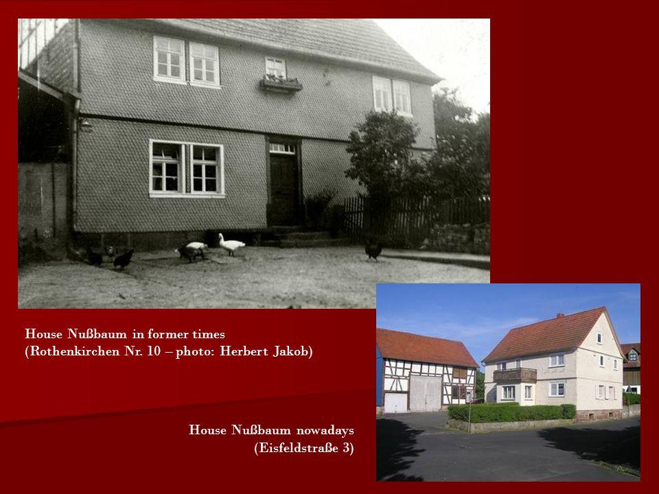 House Nußbaum in former times (Rothenkirchen Nr