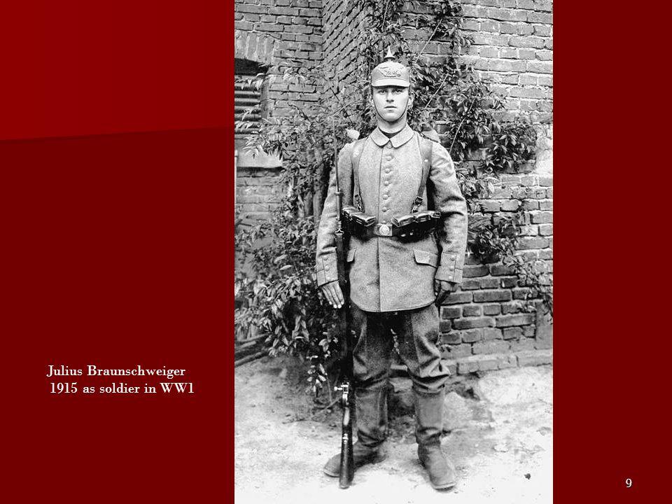 Julius Braunschweiger 1915 as soldier in WW1