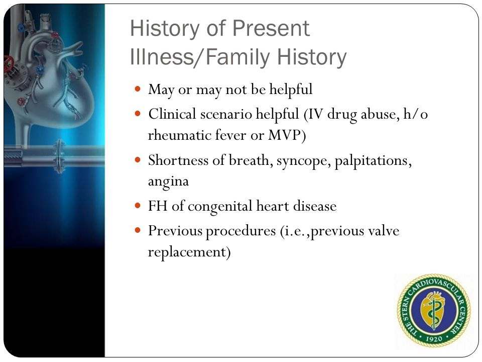 History of Present Illness/Family History