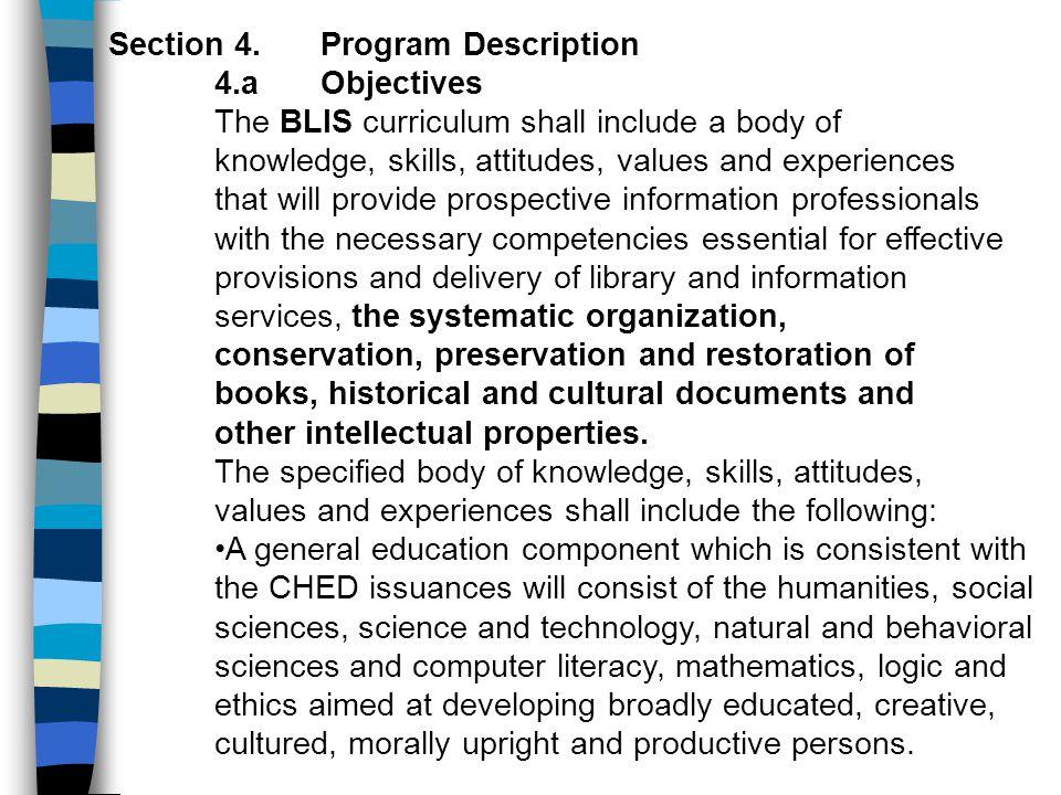 Section 4. Program Description