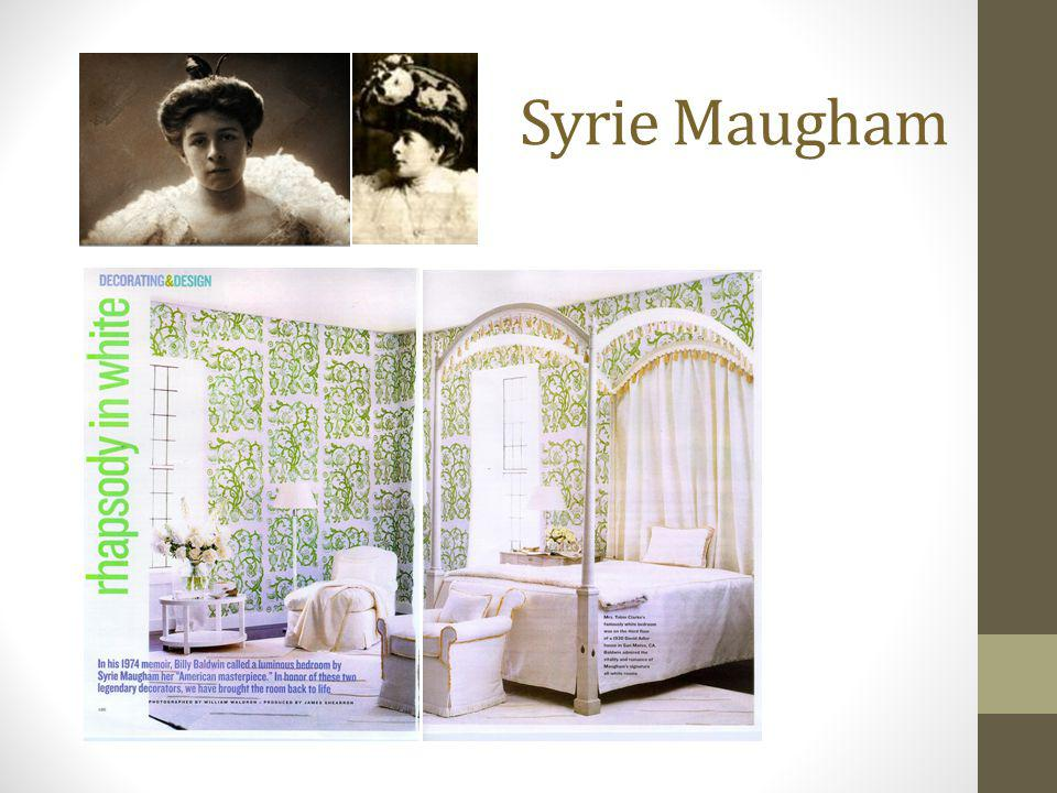 Syrie Maugham 1879 – 1955 Leading British designer of the 1920's and 30's.