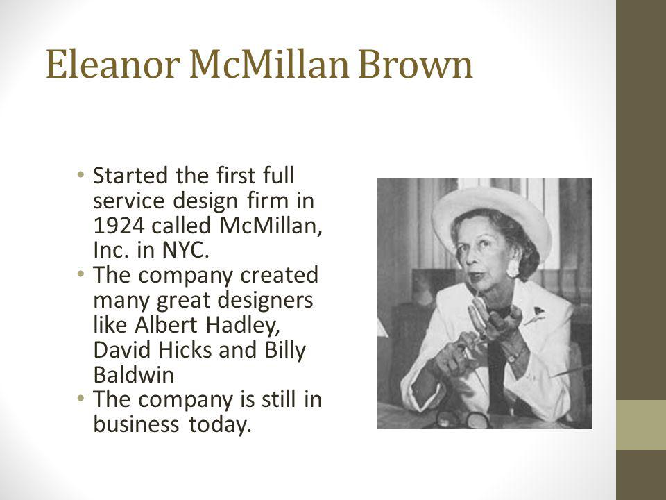 Eleanor McMillan Brown