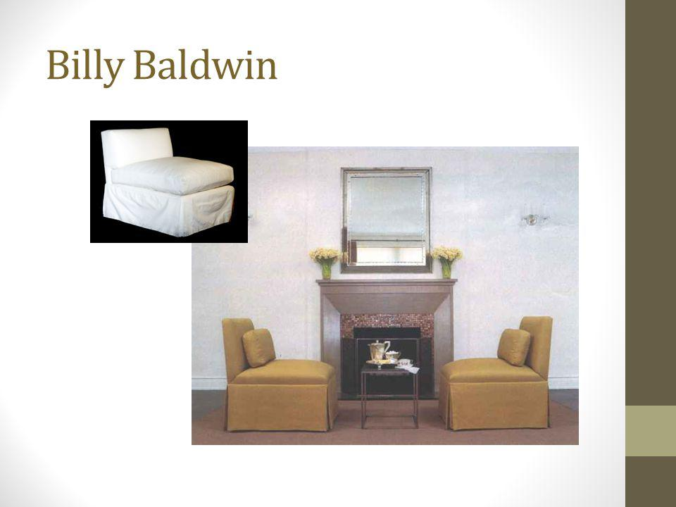 Billy Baldwin Slipper chairs covered to the floor in a tailored cotton fabric.