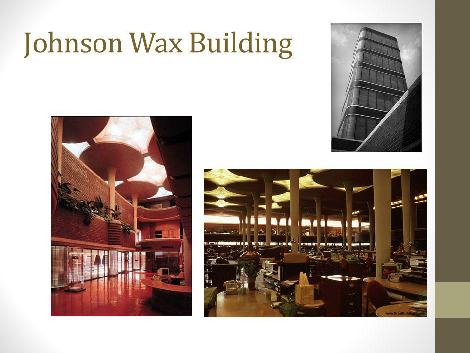Johnson Wax Building Lily Pad 9 at base to 18' at top