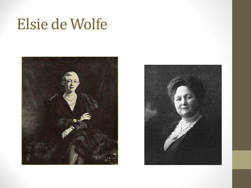 Elsie de Wolfe Wolfe had a lifelong love of France and moved there with Bessie after renovating the Villa Trianon at Versailles.