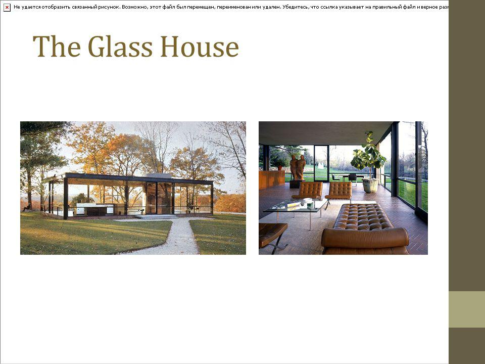 The Glass House 1949 New Canaan Connecticut His personal home and estate.