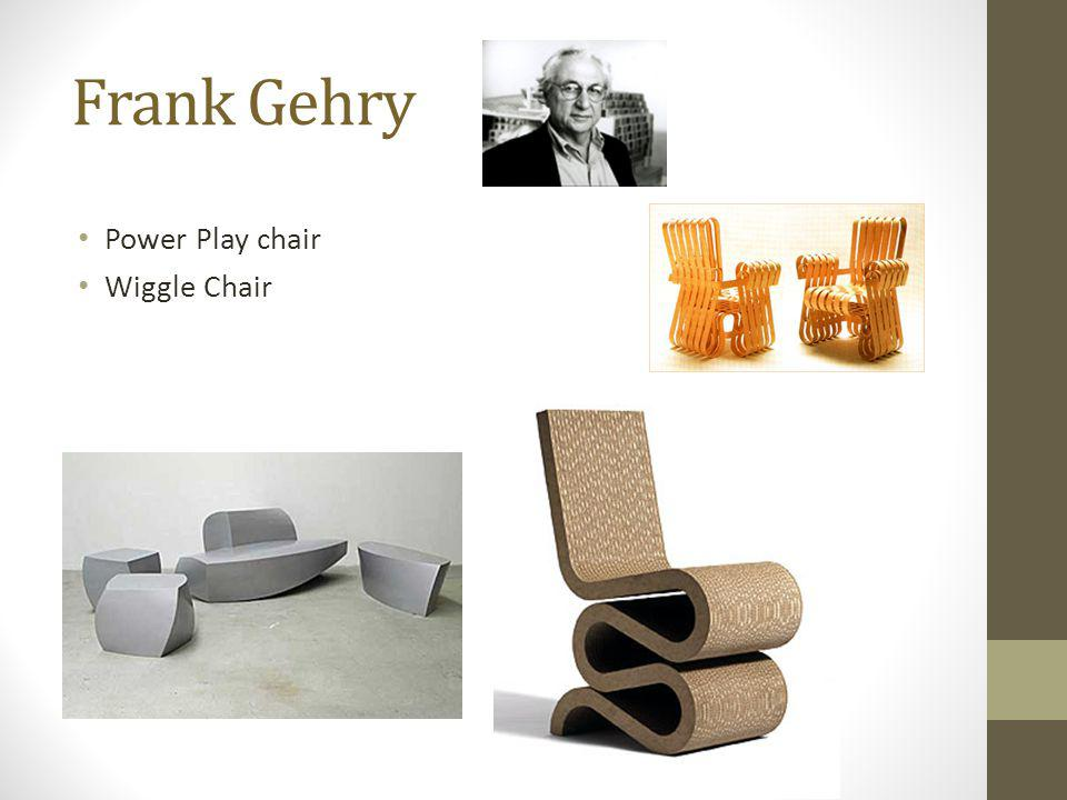 Frank Gehry Power Play chair Wiggle Chair