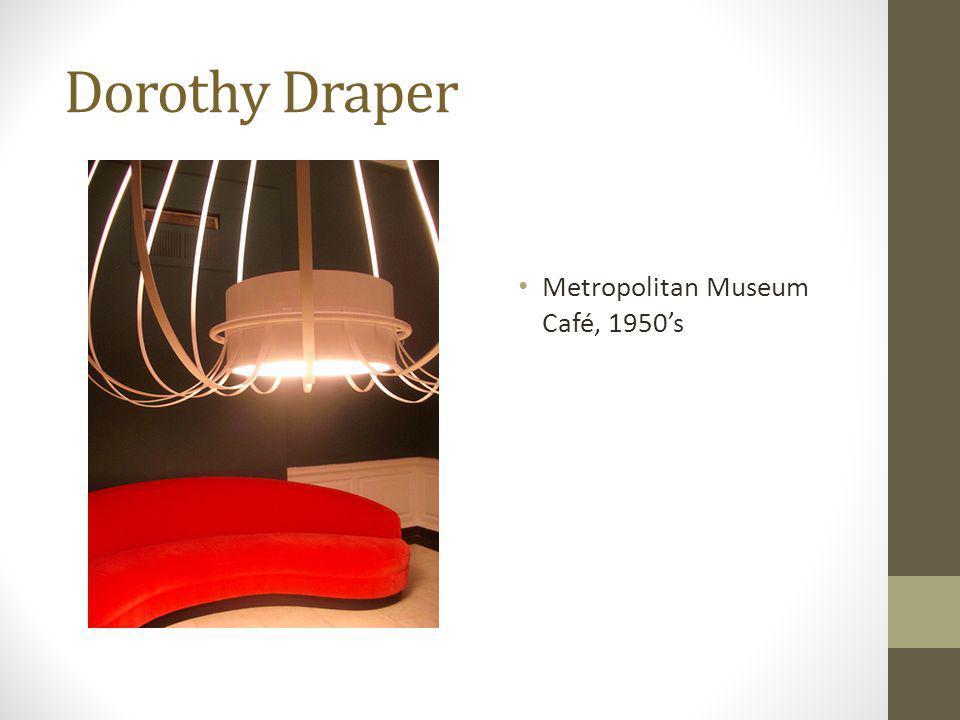 Dorothy Draper Metropolitan Museum Café, 1950's