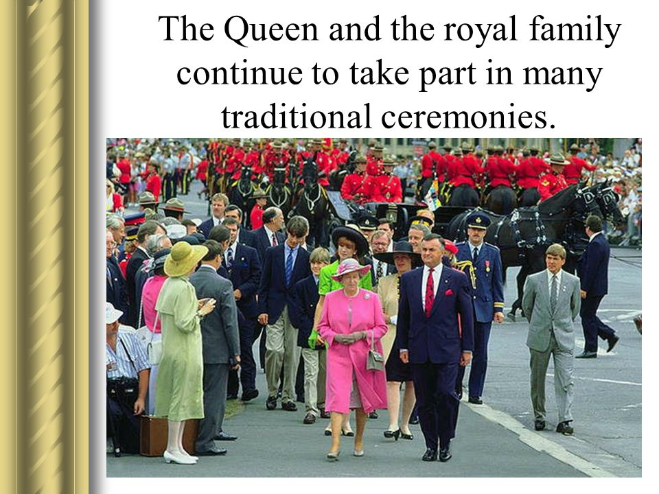 The Queen and the royal family continue to take part in many traditional ceremonies.