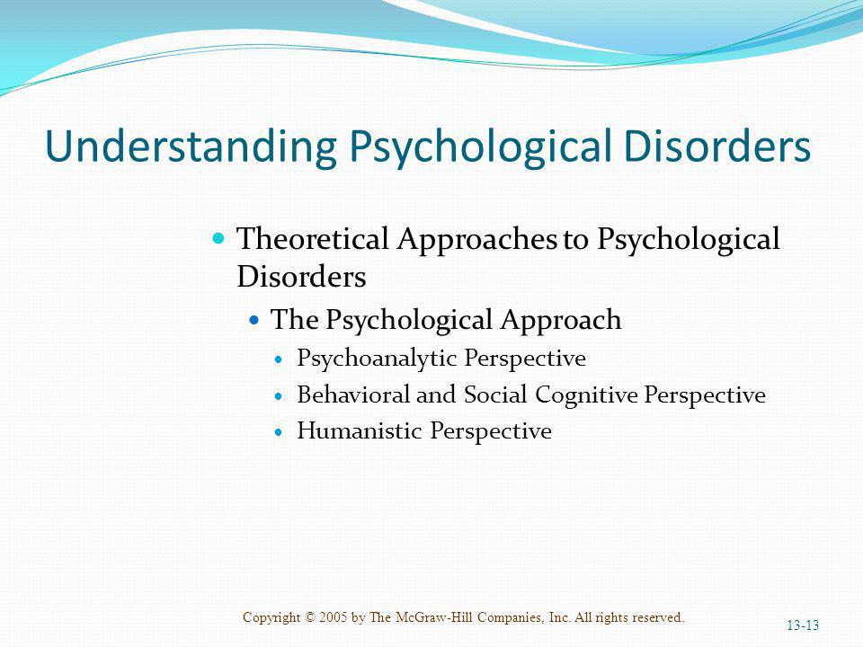 Understanding Psychological Disorders