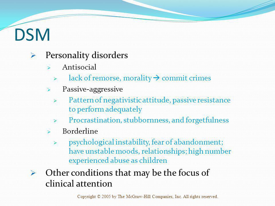DSM Personality disorders