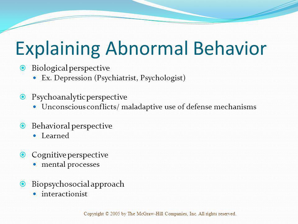 Explaining Abnormal Behavior