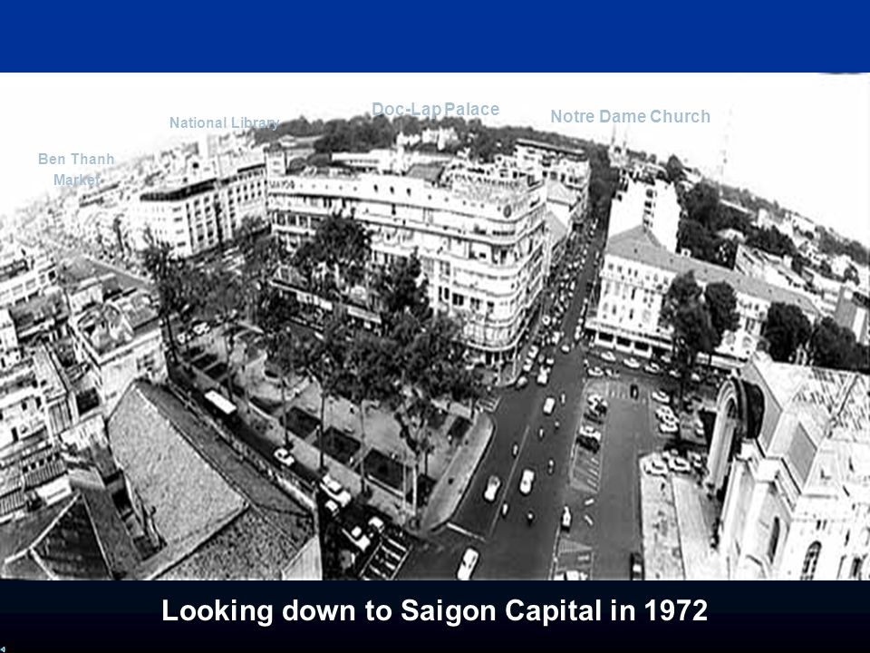 Looking down to Saigon Capital in 1972