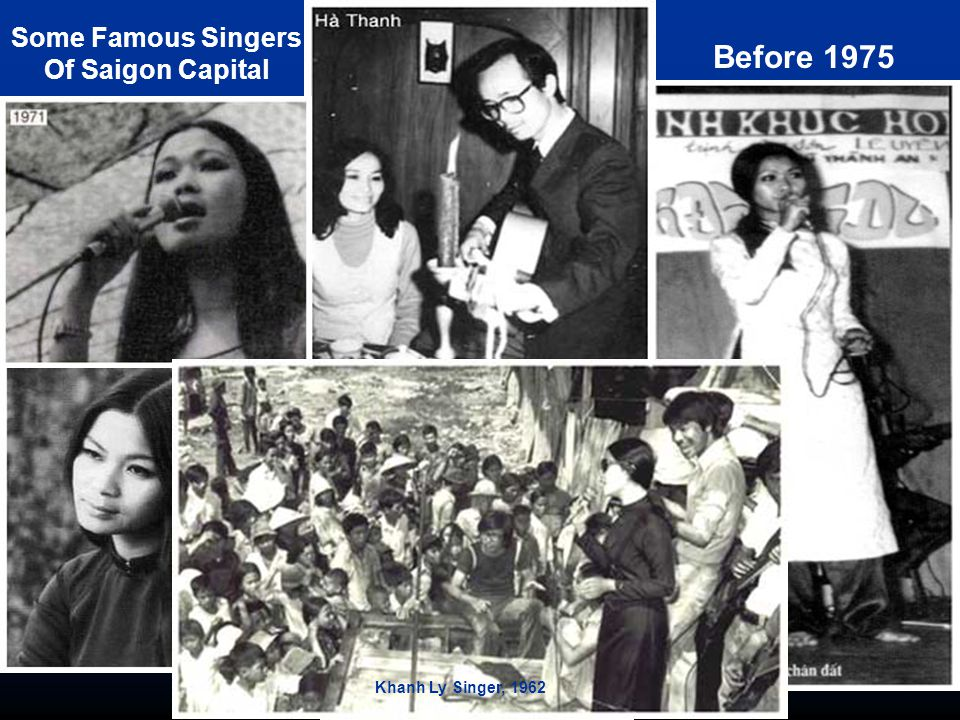 Before 1975 Some Famous Singers Of Saigon Capital