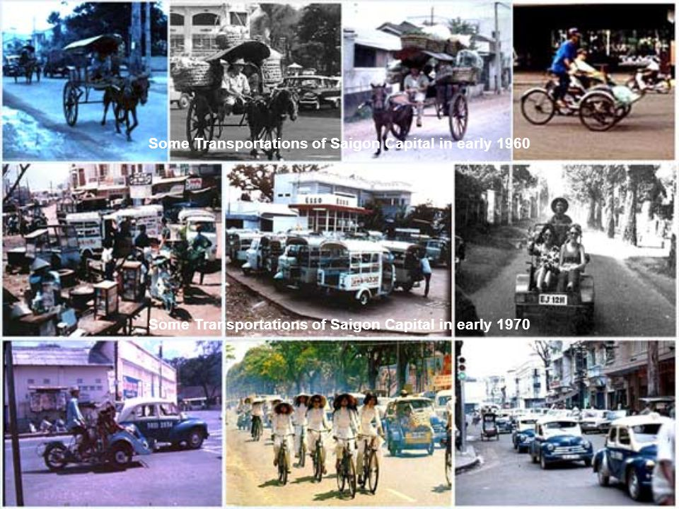 Some Transportations of Saigon Capital in early 1960