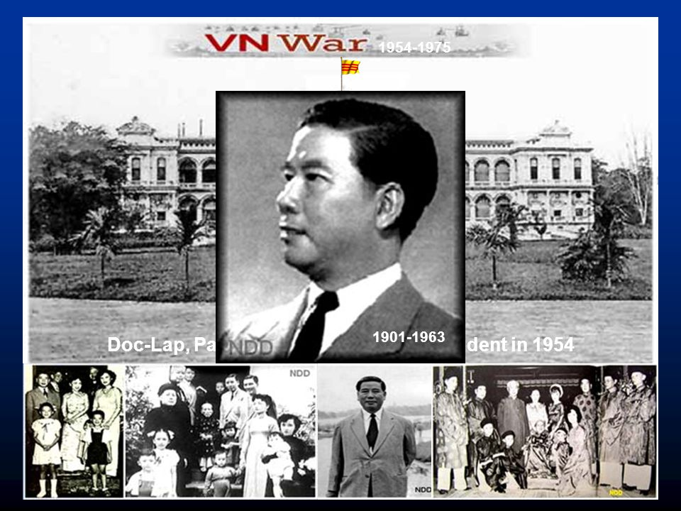 Doc-Lap, Palace of South Vietnam President in 1954