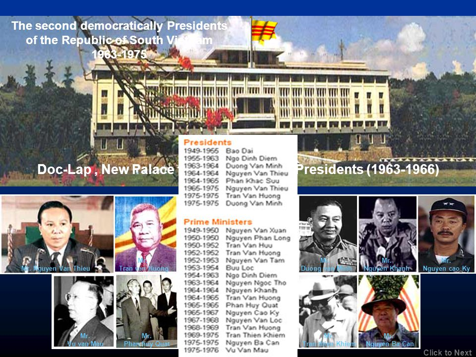 Doc-Lap , New Palace for South Vietnam Presidents (1963-1966)