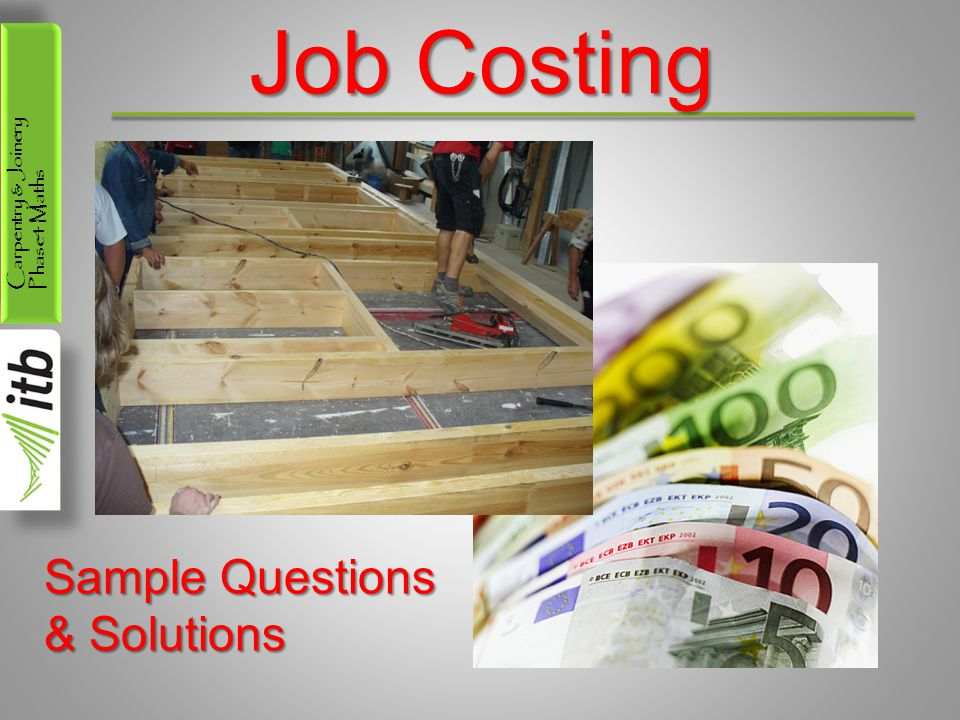 Job Costing Sample Questions & Solutions