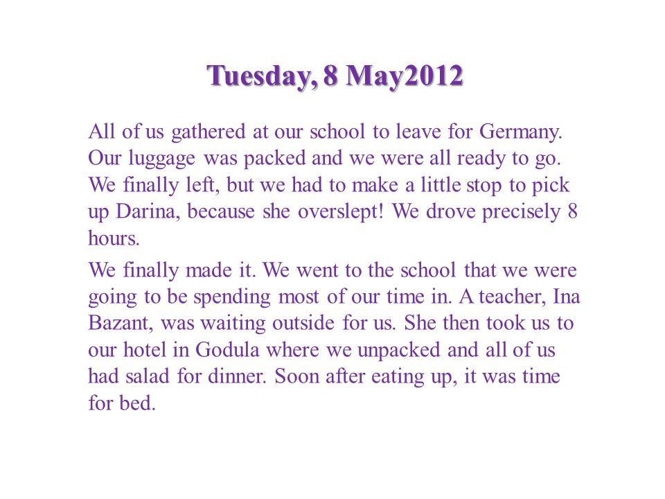 Tuesday, 8 May2012