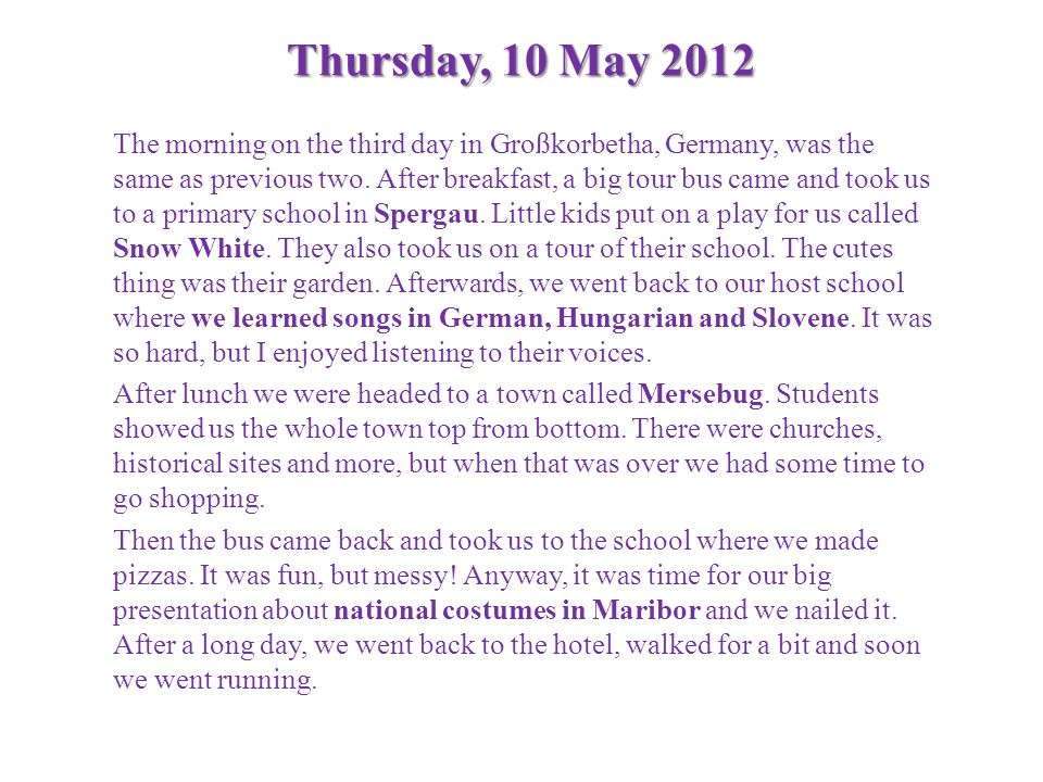 Thursday, 10 May 2012