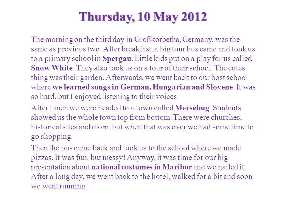 Thursday, 10 May 2012