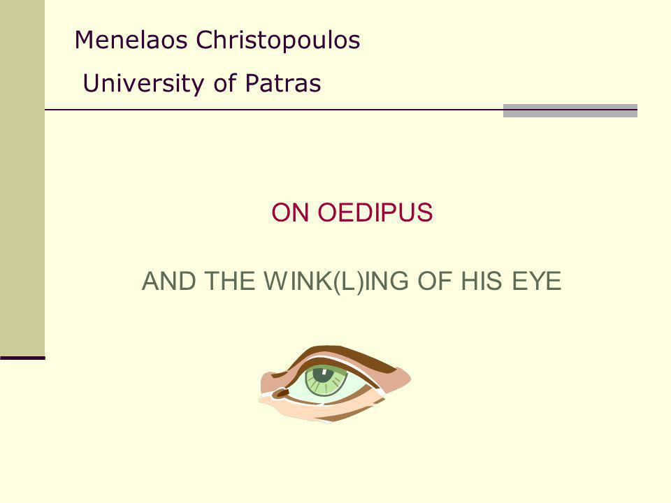 Menelaos Christopoulos University of Patras