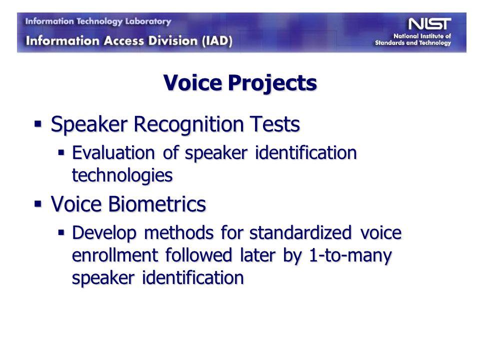 Speaker Recognition Tests