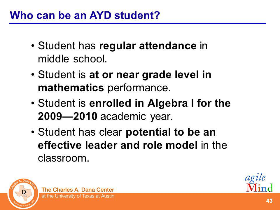 AYD: What can schools expect