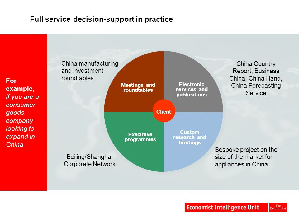 Full service decision-support in practice
