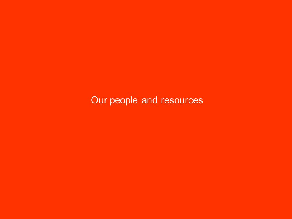 Our people and resources