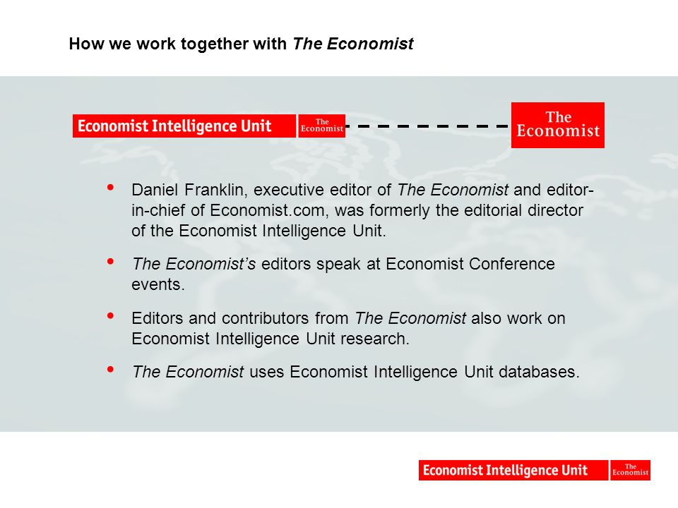 How we work together with The Economist