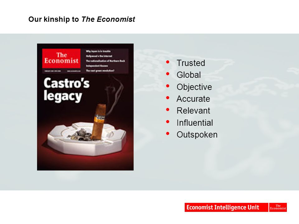 Our kinship to The Economist