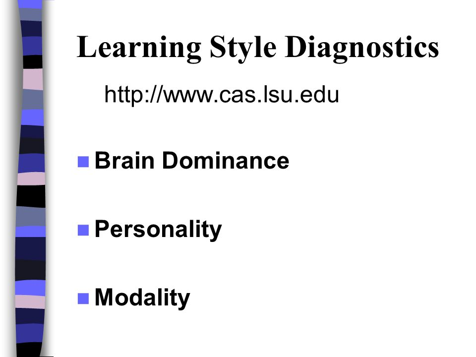 Learning Style Diagnostics