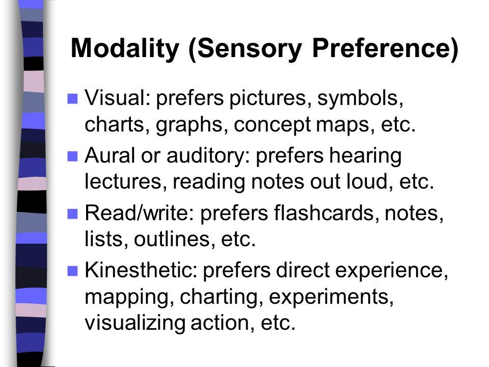 Modality (Sensory Preference)